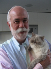 A picture of Bruce Taylor with his cat